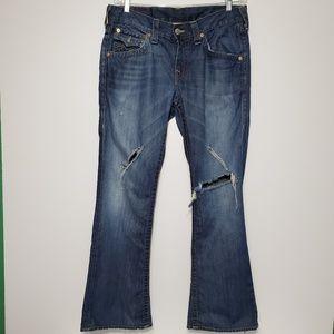Vtg True Religion brand Jeans size 32 destressed
